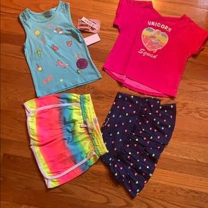 Girls 4 piece outfit set